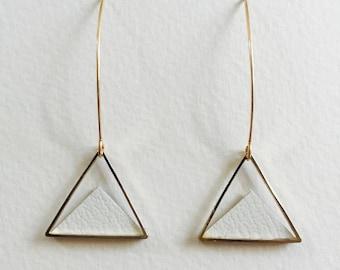 Triangular earrings  / Geometric earrings