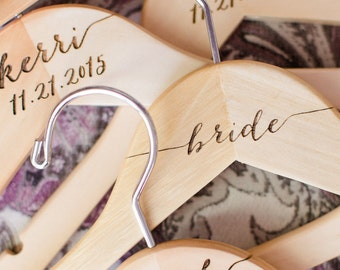 Wedding Hanger with Name for Bride and Bridesmaids Wedding Bridal Party Hanger for Wedding Dress Mrs Hanger Bride & Groom (Item - HNP300)