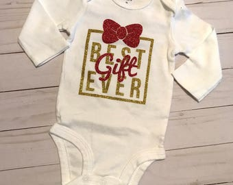 Fifty Percent off/Sale/Best Gift Ever/Baby Christmas Bodysuit/Christmas Creeper
