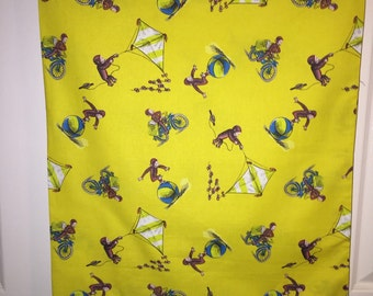 Curious George bed Pillow Case standard size pillowcase monkey boy custom Christmas birthday gift get well