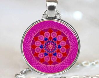 Pink Diamond Mandala  Necklace  Pendant (PD0108)