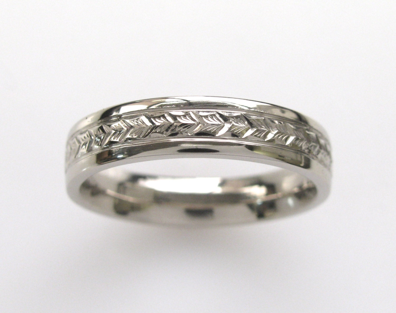 filigree wedding rings leaf white gold band vine bands