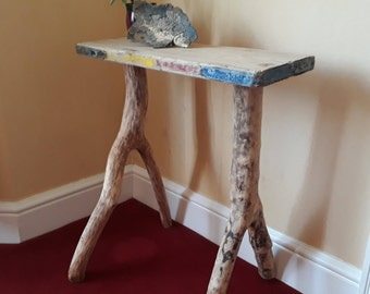 Driftwood Table, Handmade Drift Wood Table, Side Table, Weathered Wood Table