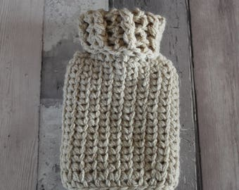 HOT WATER BOTTLE cover hot water bottle knits mini hot water bottle knitted cover wool cover crochet cover