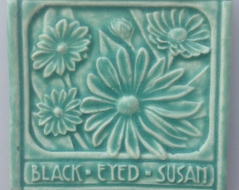 Black Eyed Susan Art Tile