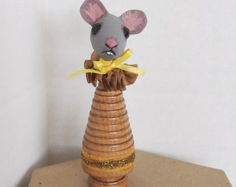 Tiny Mouse Folk Art