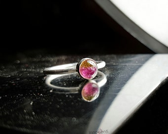 Watermelon Tourmaline Ring Tourmaline Ring Watermelon Tourmaline Gemstone Ring Bi Color Tourmaline Pink Tourmaline Ring Green Tourmaline