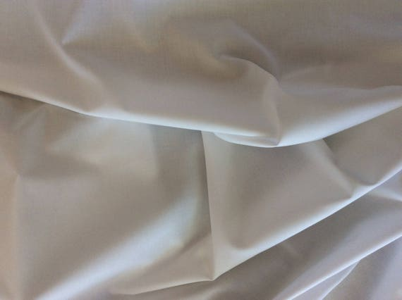 Oxford cotton poplin, white