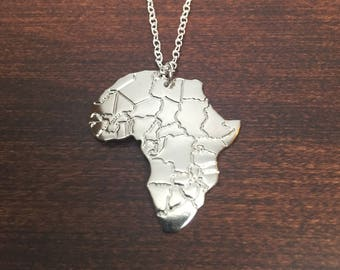 African pendant africa necklace africa with heart africa necklace africa pendant africa jewelry africa african african necklace audiocablefo