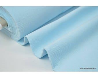 Tissu velours côtelé MILLERAIES coton BLEU CIEL .x1m