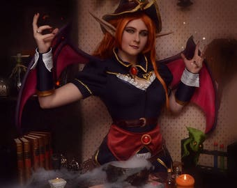 Bewitching Morgana cosplay costume league of legends lol skin Halloween