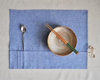 Organic Utensil Napkin Roll