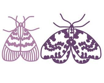 Moths Cut File .SVG .DXF .PNG
