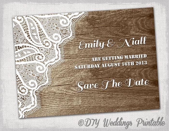 rustic save the date template printable diy wood zoom maxwellsz