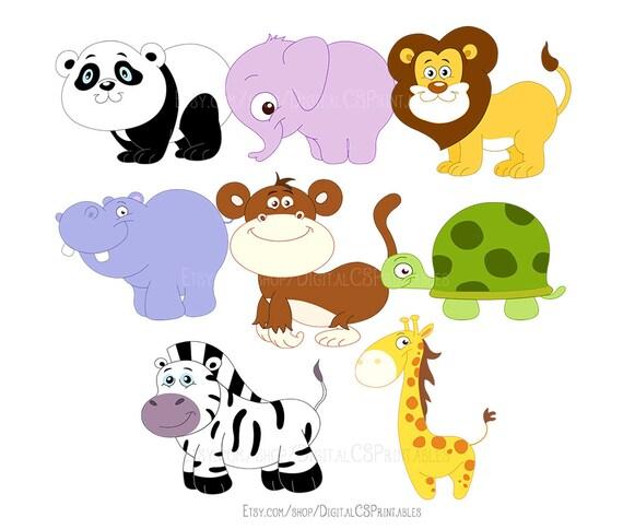 safari animal clipart cute animal clipart cute clipart kids clipart rh etsystudio com Cool Animal Clip Art Zoo Animal Clip Art