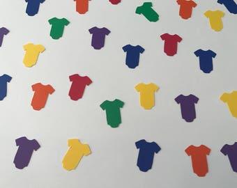 Rainbow Baby Confetti - Rainbow Baby Shower - Rainbow Baby One Piece Confetti - Rainbow Baby - Baby Shower Decor - Baby Shower Confetti