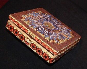 Blue Dahlia Treasure Box