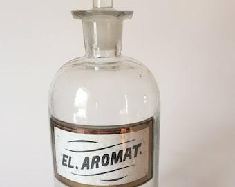 Vintage apothecary jars - glass apothecary jars - glass pharmacy jars - vintage pharmacy jars - antique jars - storage jars