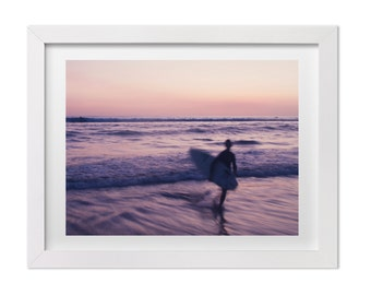 Surf Photography, Sunset in Santa Teresa, Beach Print, Landscape Photography, Surf Art, Large Wall Decor, Costa Rica Print, Surf Gift