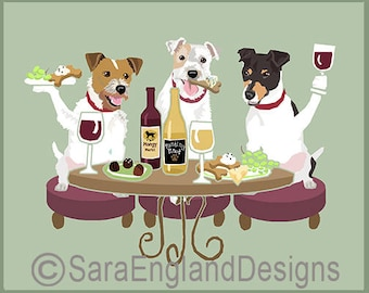 Dogs WINEing - Jack Russell Terrier