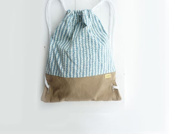 Geometric Arrow Cotton Canvas backpack