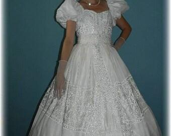 "Civil War, Disney's style ""Enchanted"" Princess Wedding Dress Southern Belle Costume"