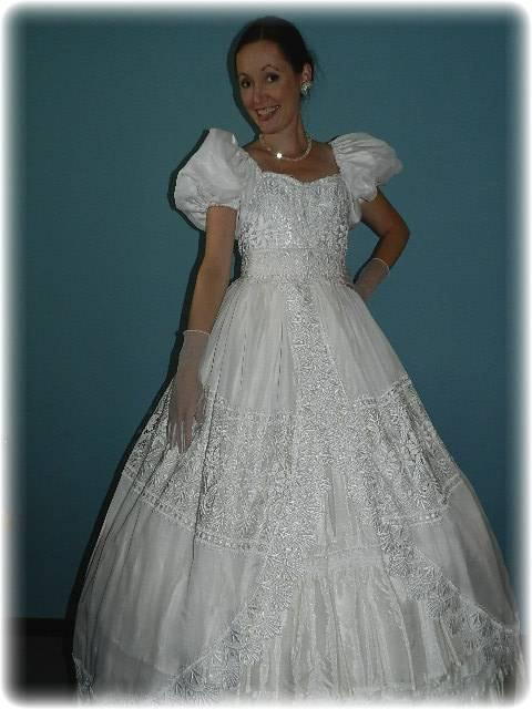 Civil War Disneys style Enchanted Princess Wedding Dress
