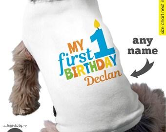Dog Birthday Shirt • Personalized dog 1st birthday shirt