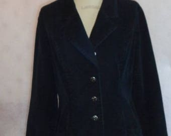 Faded black jacket tailored asymmetrical collar.