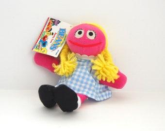 Vintage Betty Lou Doll, Sesame Street Bean Bag Toy, Tyco Beans