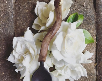 Black Clay & Driftwood Spoon
