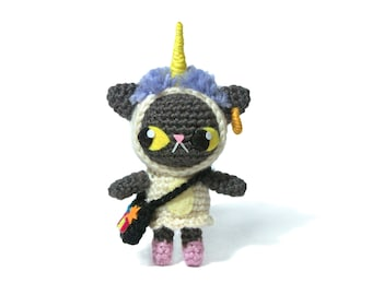 Cat in Unicorncostume - Amigurumi - crochet pattern