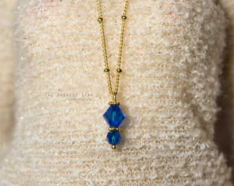 1/3 SD 1/4 MSD BJD Capri Blue Swarovski necklace