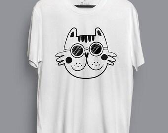Glasses Cat T-shirt
