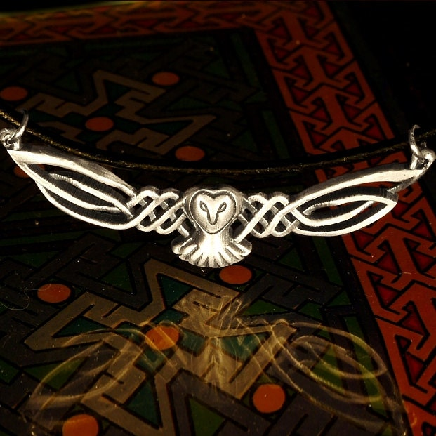 Sterling owl necklace celtic owl pendant silver owl necklace sterling owl necklace celtic owl pendant silver owl necklace celtic owl barn owl wings labrynth necklace jareth necklace owl lover gift mozeypictures Image collections