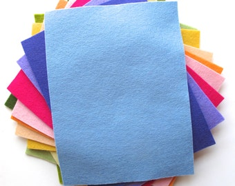 Felt Sheets, Floral Shades, 100% Merino Wool Felt, Twelve 6 x 8 Inch Sheets, Felt Assortment, DIY Kit, Nonwoven Felt
