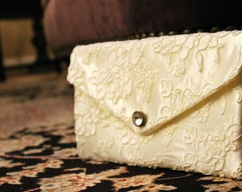 Bridal Clutch Custom Alencon Lace