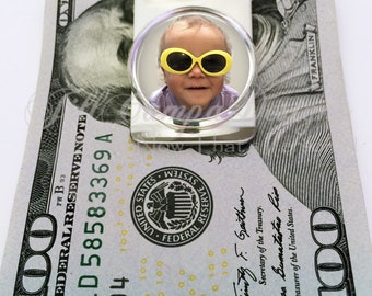 PHOTO MONEY CLIP - Custom Photo Money Clip - Your Photo money clip - company logo money clip - Men's Gift - Groomsmen gift, father's day