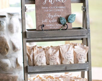 Custom Favors Sign - Wooden Wedding Signs - Wood