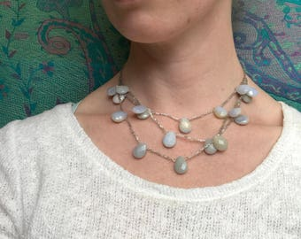 Chalcedony Gemstone Necklace - Great gift idea!