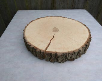 "13""-15""Large Alder Wood Slice 13-15 inch,13""-15""wood slice,large wood slab,cupcake stand,Rustic Wedding Decor,Cake Stand,Wedding Centerpiece"