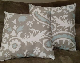Decorative Pillow Cover, Couch Pillow Cover, 16x16; 18x18; Ready To Ship Today