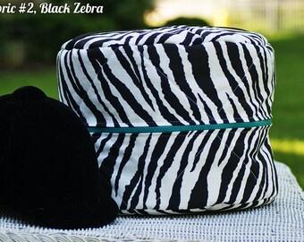 Custom Animal Print Round Helmet/Hat Bag - Cheetah // Zebra // Leopard // Giraffe -MADE TO ORDER