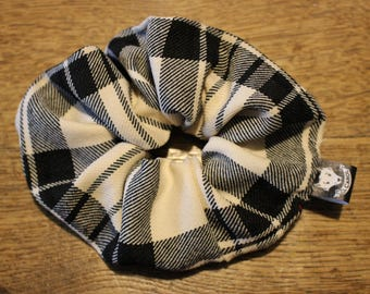 Charles black and white Plaid tartan look retro 80 s classic punk rock accessory for cotton hair O.Carol
