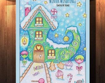 WINTER WINDLINGS Printable Digital Coloring Book