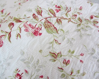 Quilted Home Decorator Fabric  Covington Cotton  Last Yard  - Reduced