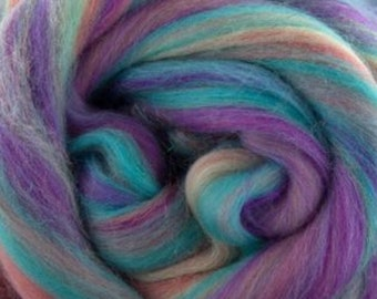 Once upon a time, 23 micron, 4 oz braid, merino, combed top, roving, spinning fiber, hand spinning fiber, fibre, red, merino