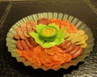 """Meat Platter Party Tray for Dolls -  1/3 - 1/4 scale for All 18"""" Dolls"""