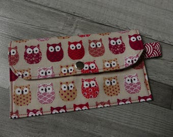 Cool owls cream red pouch