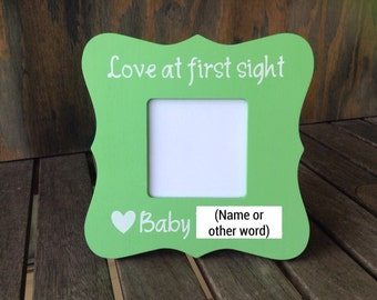 Ultrasound frame/custom baby frame/hand painted frame/any color paint/no vinyl